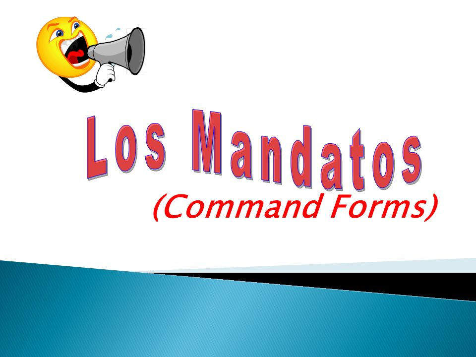 Los Mandatos (Command Forms)