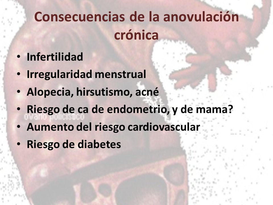 Consecuencias de la anovulación crónica