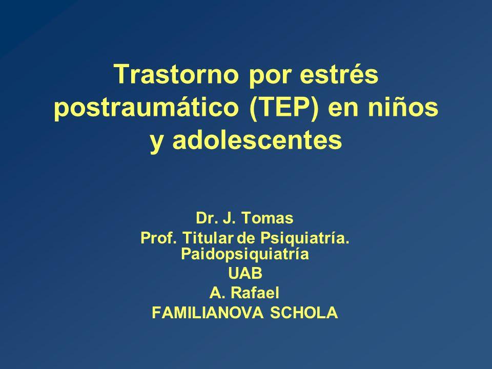 Trastorno por estrés postraumático (TEP) en niños y adolescentes