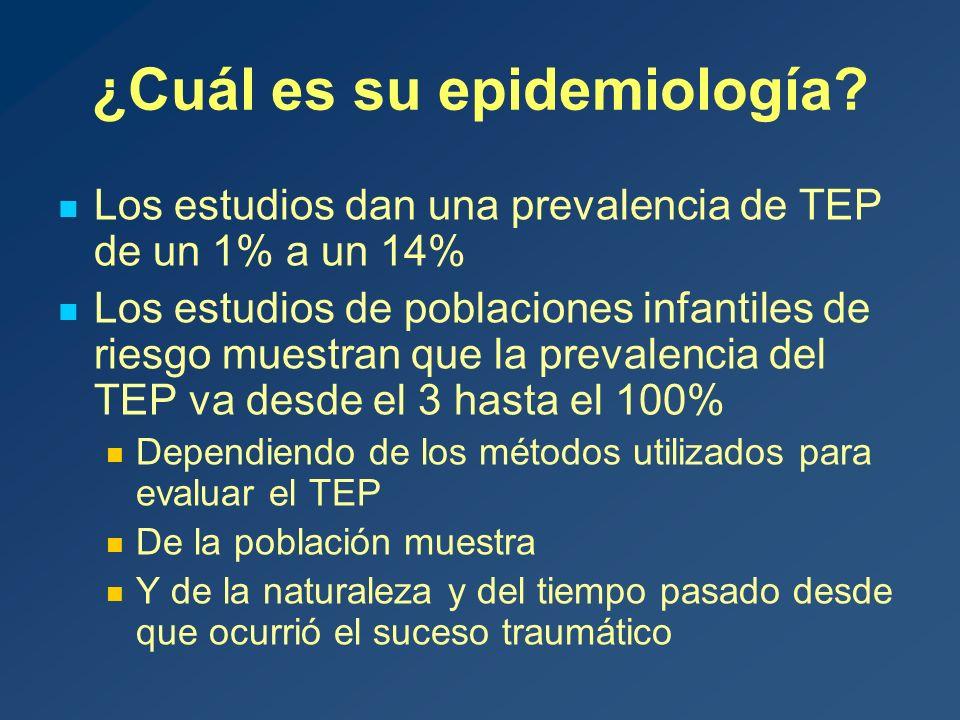 ¿Cuál es su epidemiología