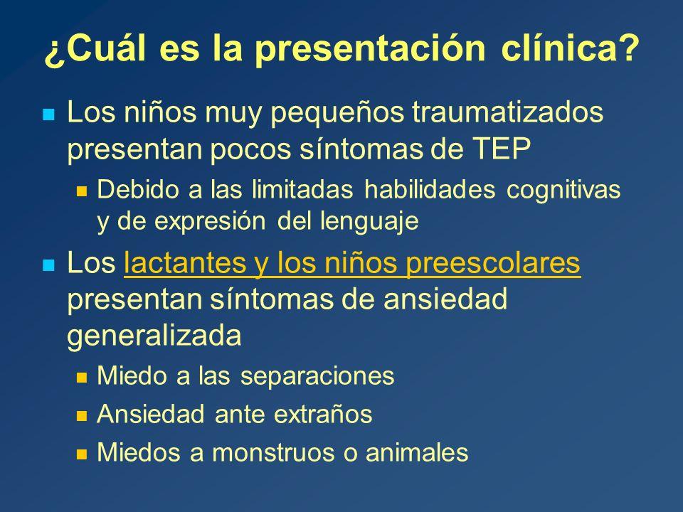 ¿Cuál es la presentación clínica