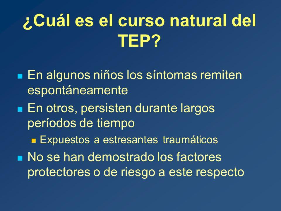 ¿Cuál es el curso natural del TEP