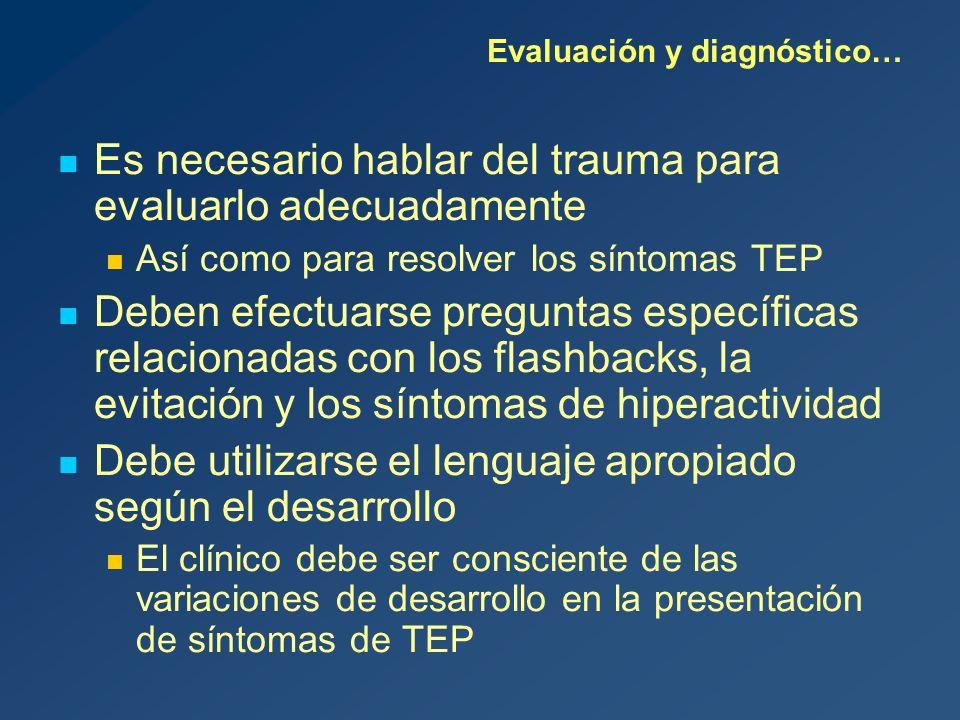 Evaluación y diagnóstico…