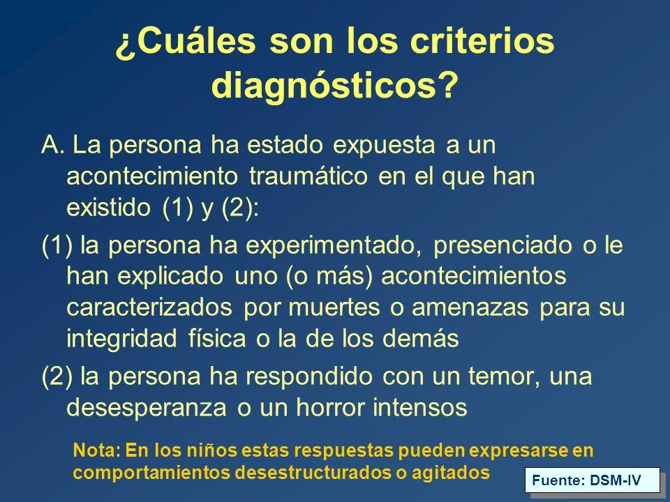 ¿Cuáles son los criterios diagnósticos