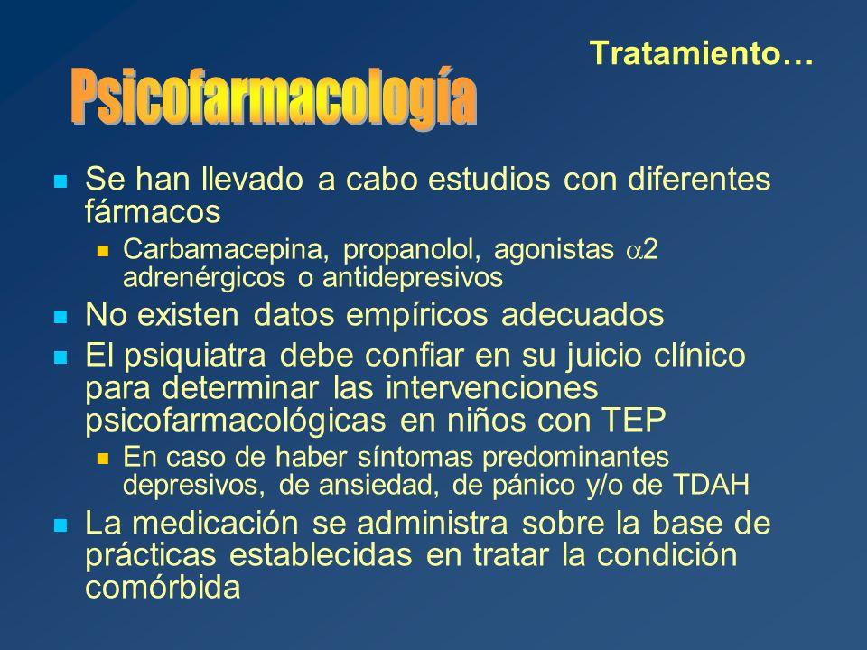 Psicofarmacología Tratamiento…