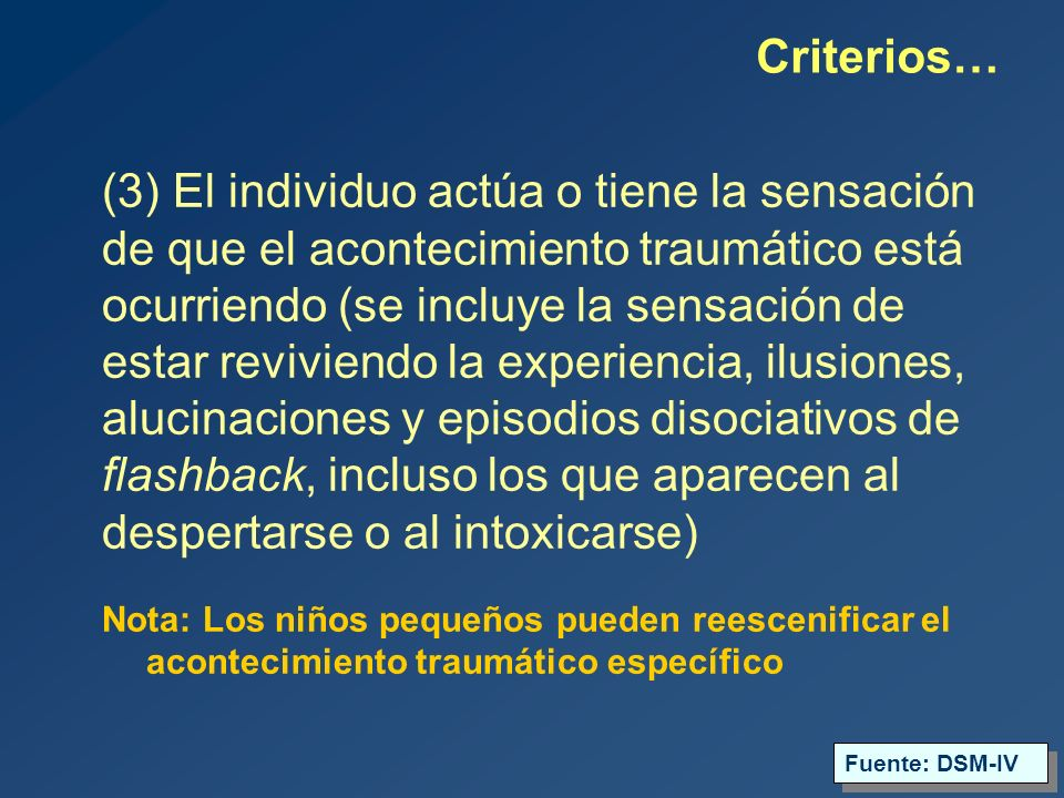 Criterios…