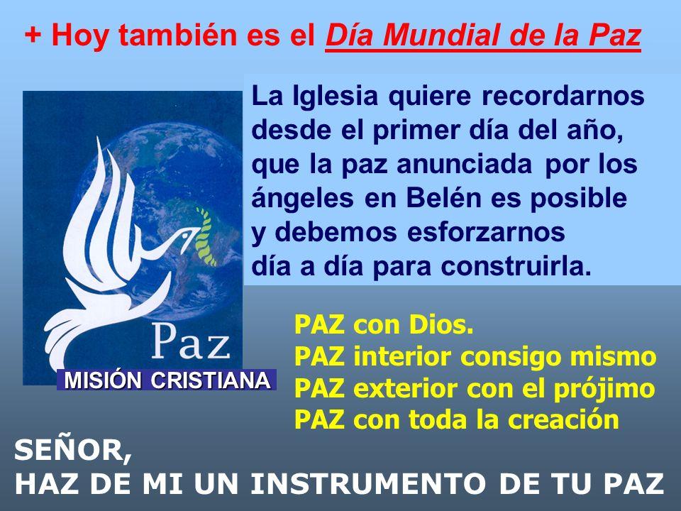 + Hoy también es el Día Mundial de la Paz