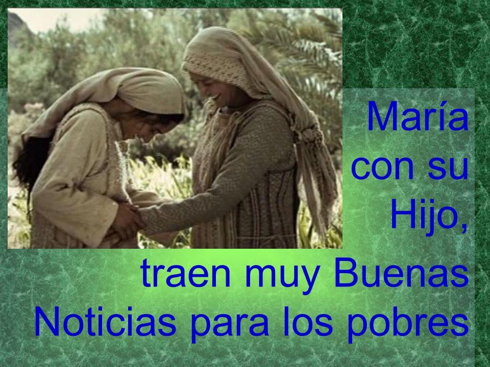 María con su Hijo, traen muy Buenas Noticias para los pobres
