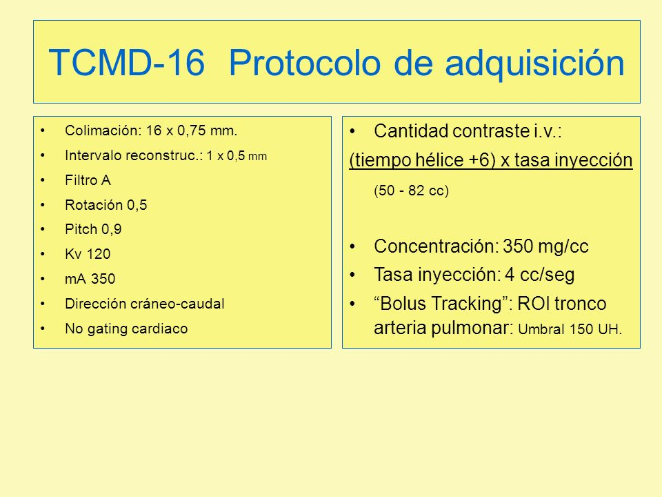 TCMD-16 Protocolo de adquisición