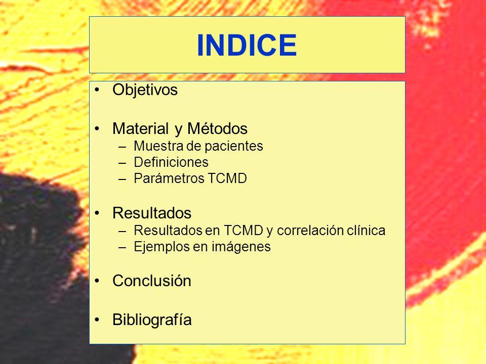 INDICE Objetivos Material y Métodos Resultados Conclusión Bibliografía