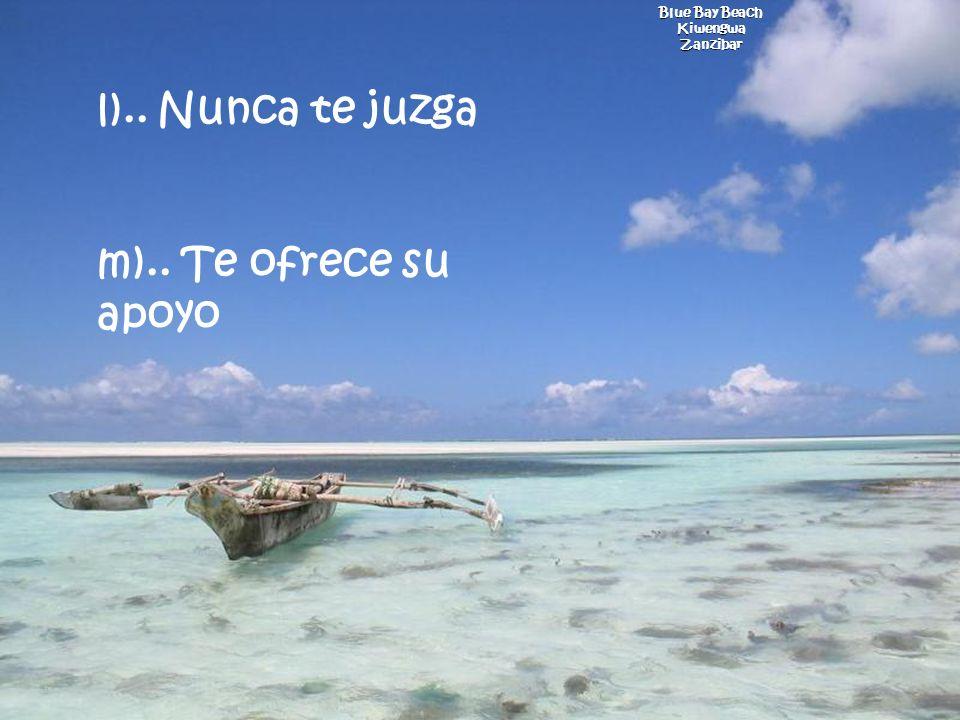 l).. Nunca te juzga m).. Te ofrece su apoyo Blue Bay Beach Kiwengwa