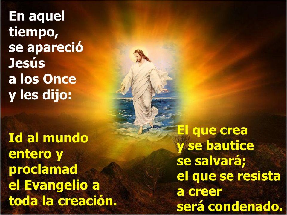 En aquel tiempo, se apareció Jesús a los Once y les dijo: