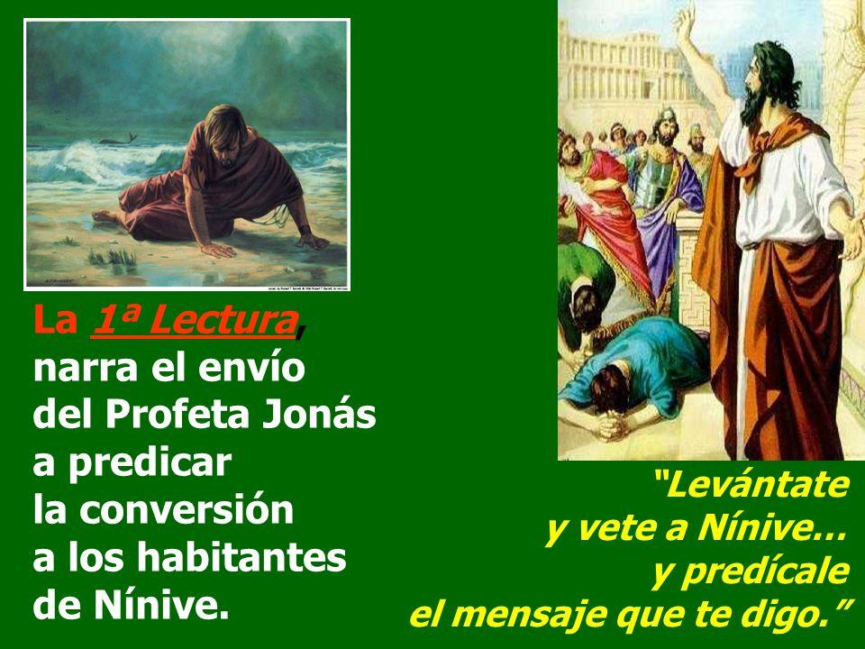 narra el envío del Profeta Jonás a predicar la conversión