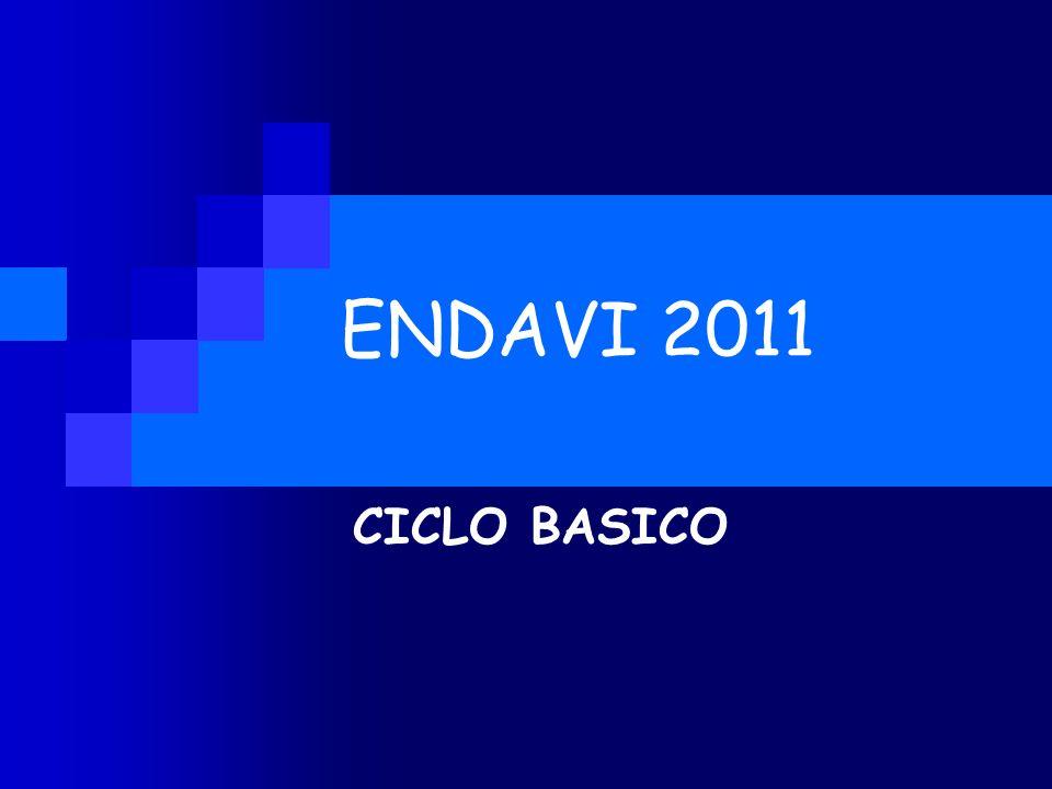 ENDAVI 2011 CICLO BASICO