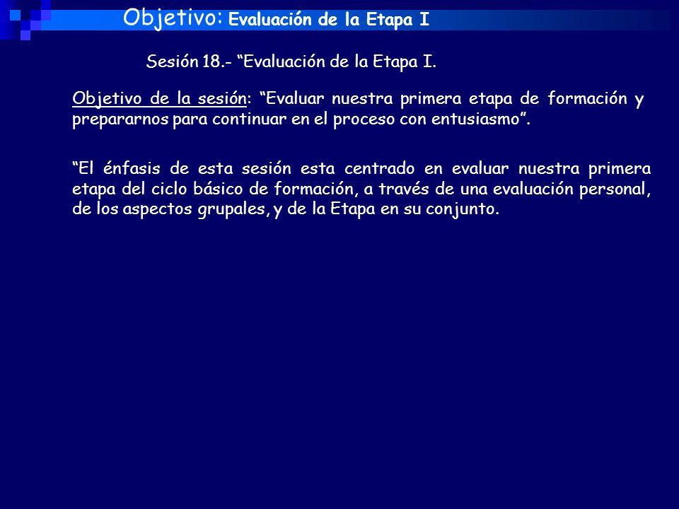 Objetivo: Evaluación de la Etapa I