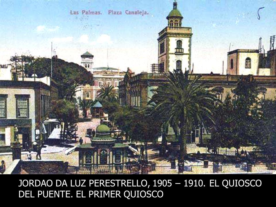 JORDAO DA LUZ PERESTRELLO, 1905 – 1910. EL QUIOSCO