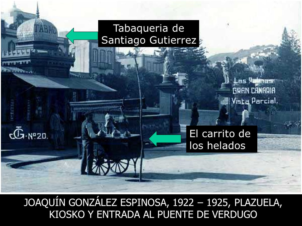Tabaqueria de Santiago Gutierrez. El carrito de. los helados.