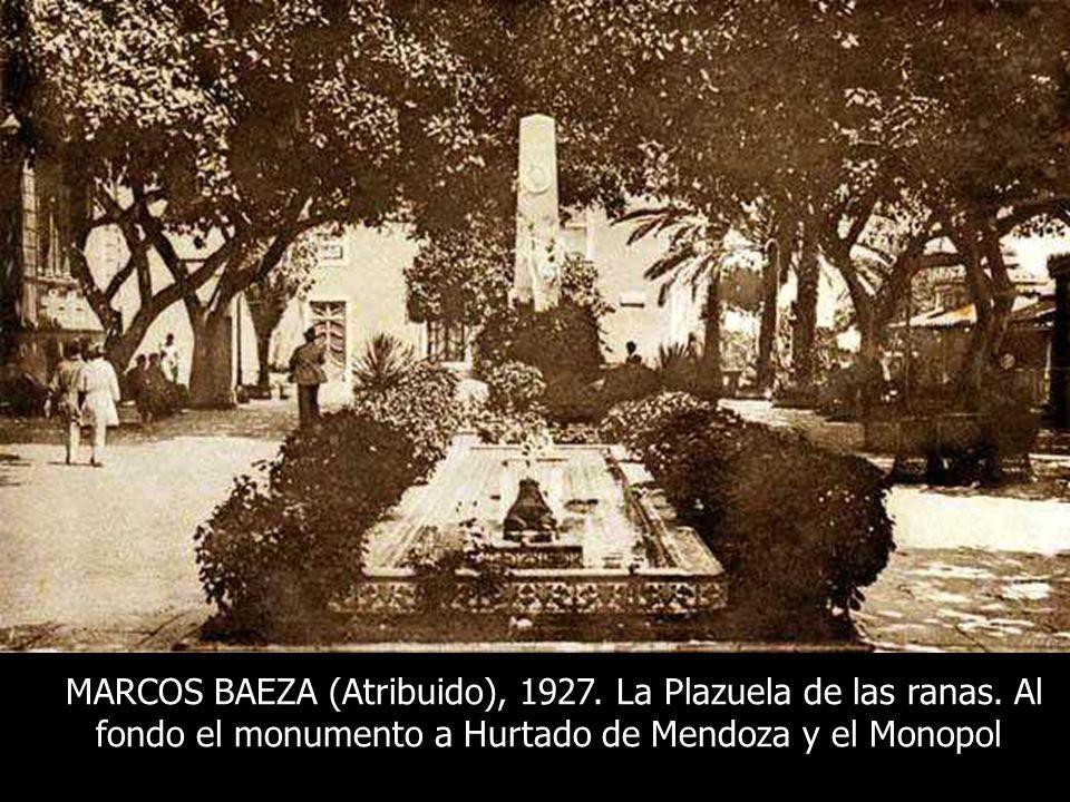 MARCOS BAEZA (Atribuido), 1927. La Plazuela de las ranas