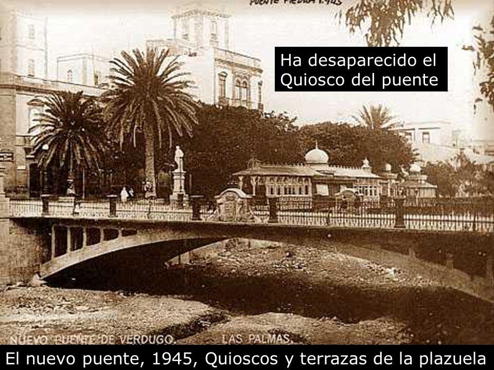 Ha desaparecido el Quiosco del puente El nuevo puente, 1945, Quioscos y terrazas de la plazuela