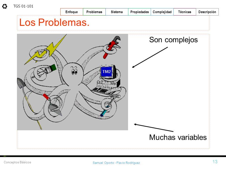 Los Problemas. Son complejos Muchas variables