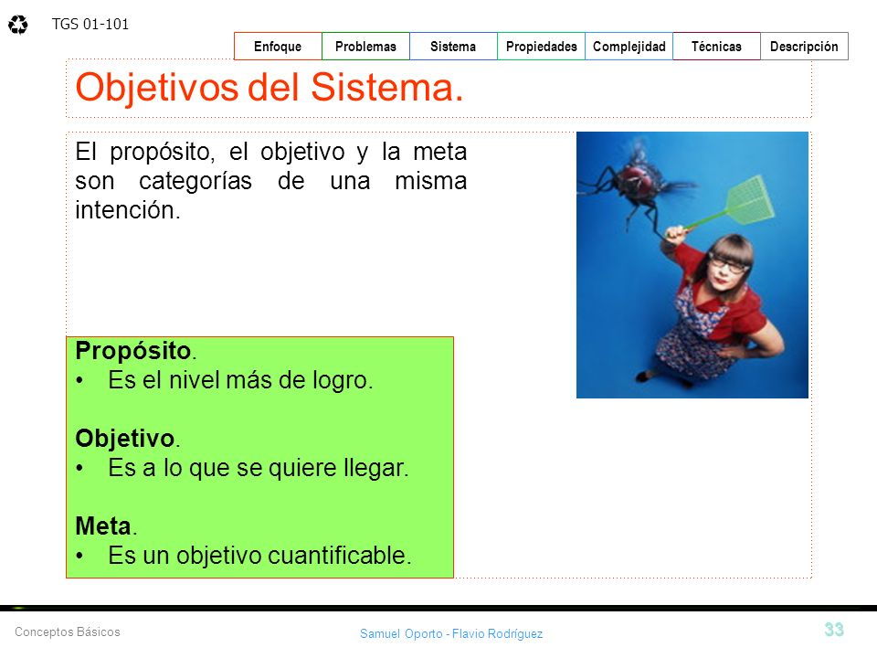 Objetivos del Sistema.El propósito, el objetivo y la meta son categorías de una misma intención. Propósito.