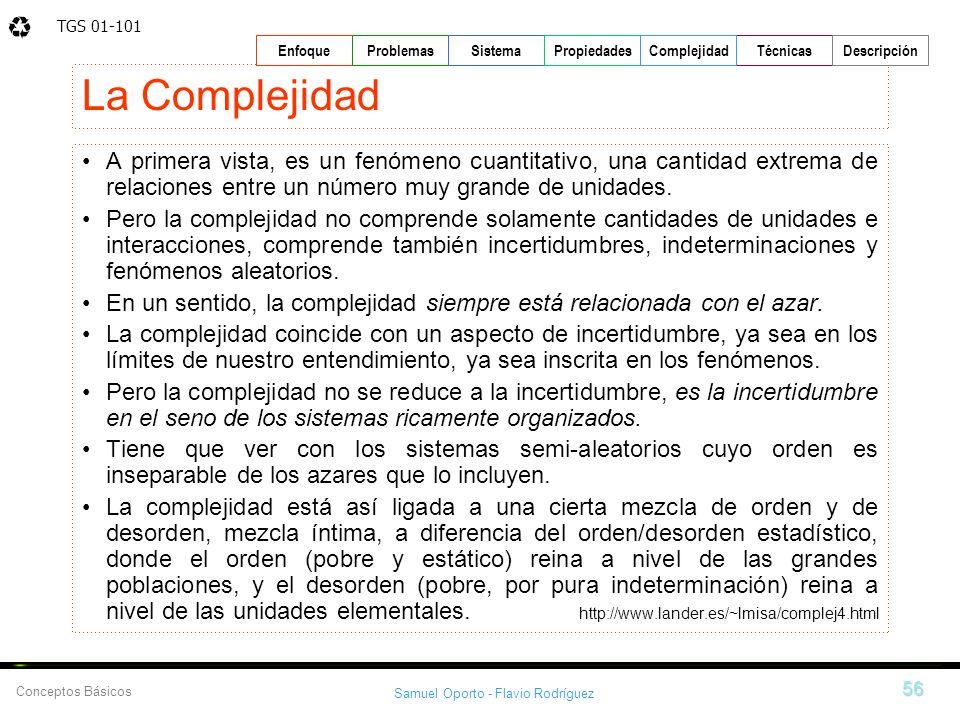La Complejidad A primera vista, es un fenómeno cuantitativo, una cantidad extrema de relaciones entre un número muy grande de unidades.