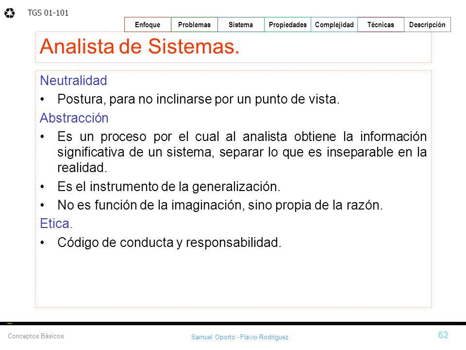 Analista de Sistemas. Neutralidad