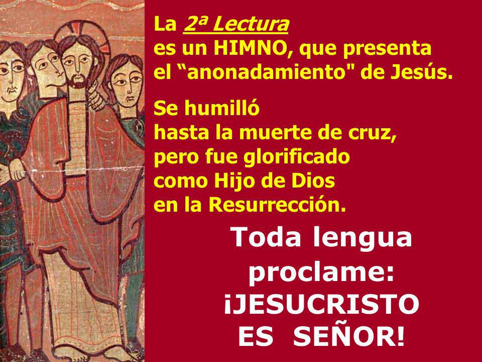 Toda lengua proclame: ¡JESUCRISTO ES SEÑOR!