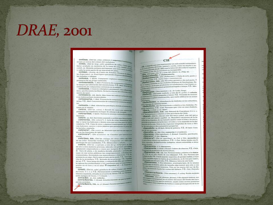 DRAE, 2001