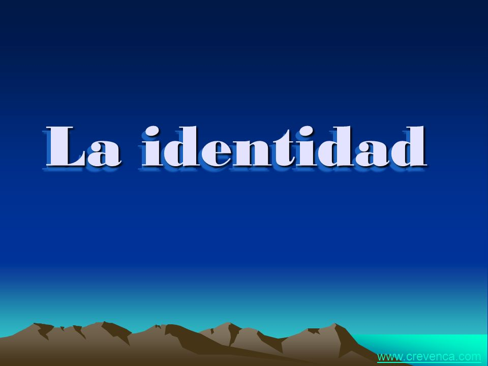 La identidad www.crevenca.com