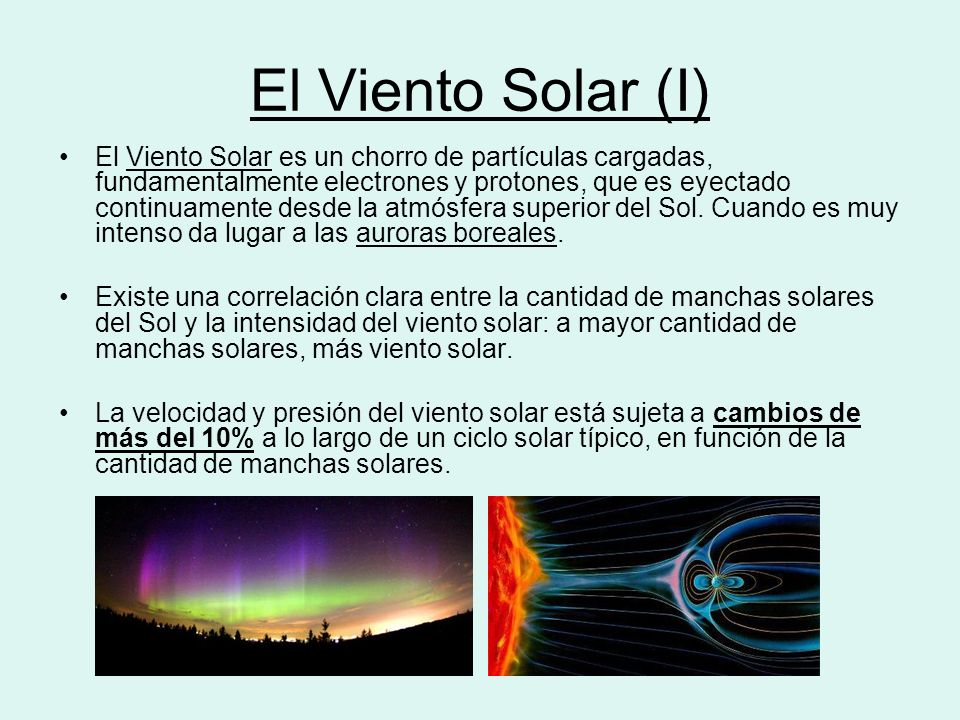 El Viento Solar (I)