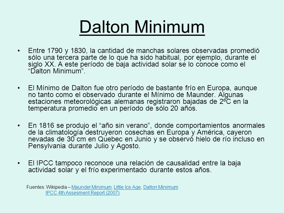 Dalton Minimum