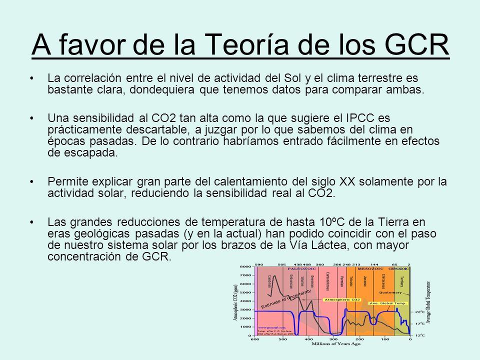 A favor de la Teoría de los GCR