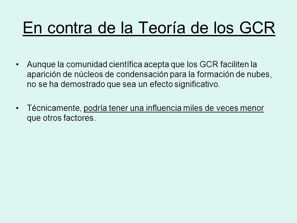 En contra de la Teoría de los GCR