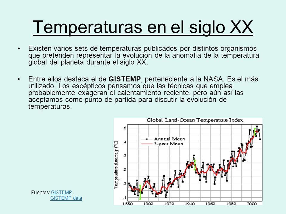 Temperaturas en el siglo XX