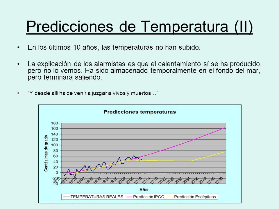 Predicciones de Temperatura (II)