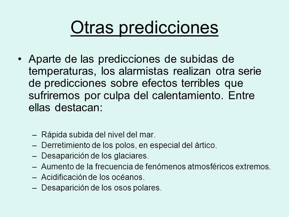 Otras predicciones