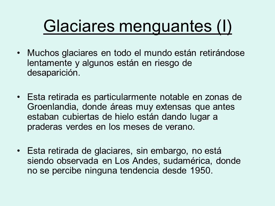 Glaciares menguantes (I)