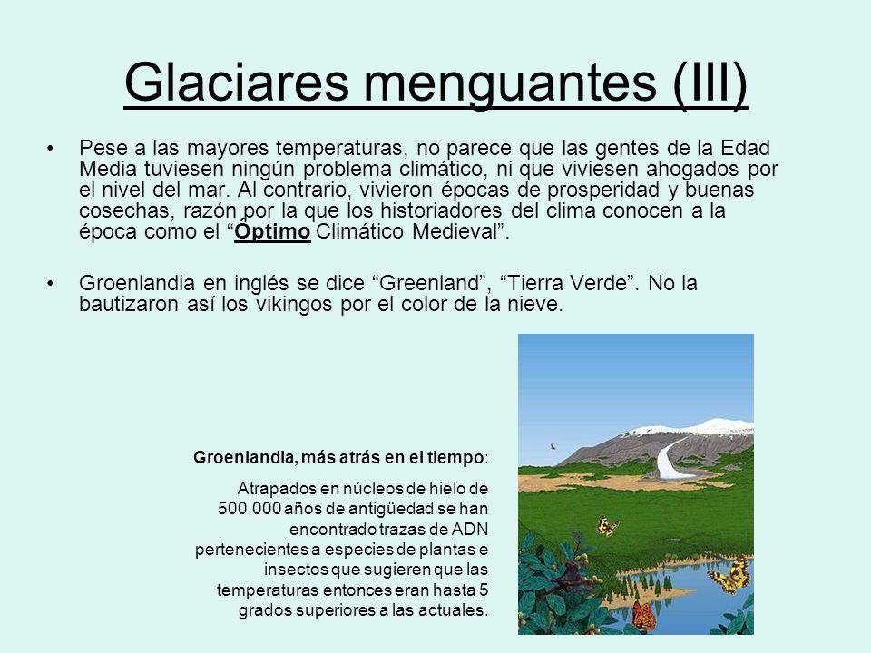 Glaciares menguantes (III)