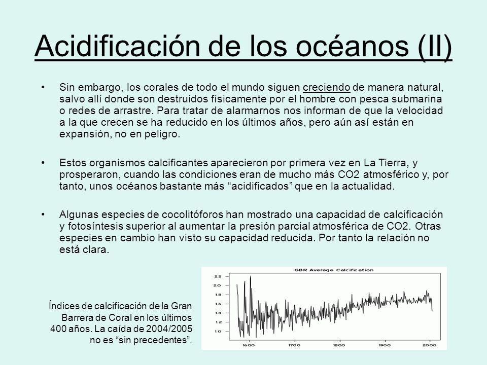 Acidificación de los océanos (II)