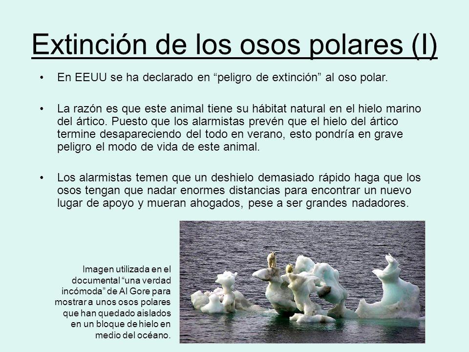 Extinción de los osos polares (I)