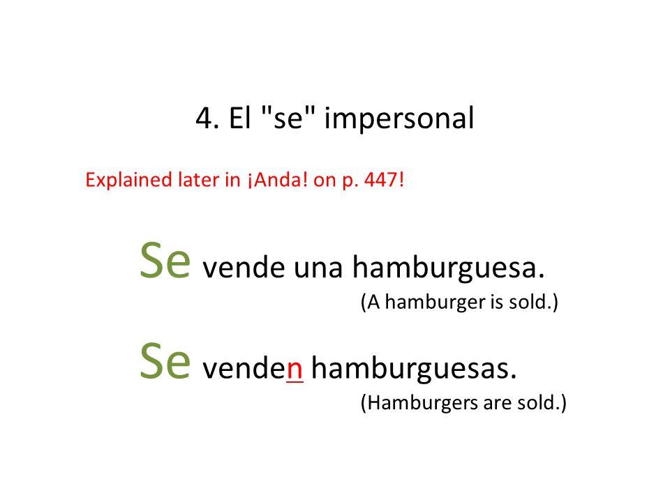 Se vende una hamburguesa.