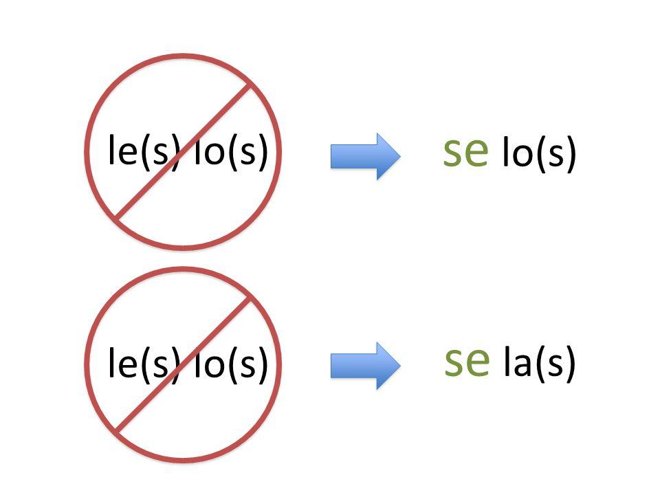 se lo(s) le(s) lo(s) se la(s) le(s) lo(s)