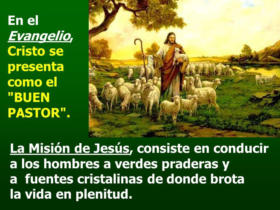 En el Evangelio, Cristo se presenta como el BUEN PASTOR .
