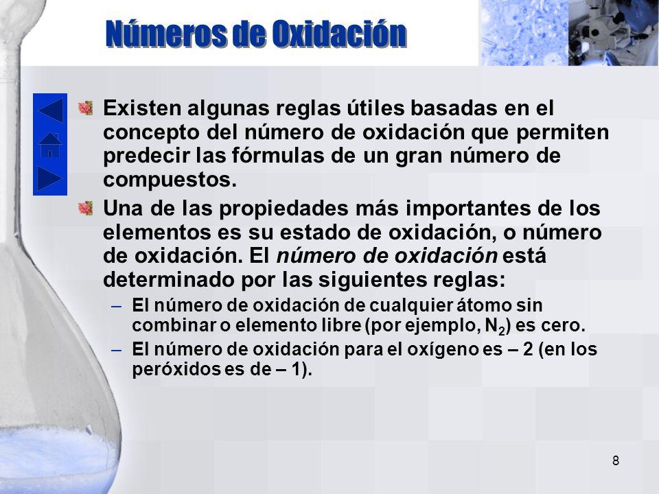 Números de Oxidación