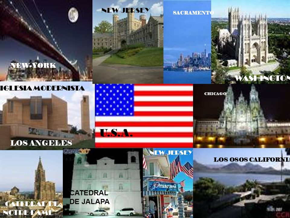 LOS U.S.A. WASHINGTON NEW JERSEY NEW-YORK IGLESIA MODERNISTA
