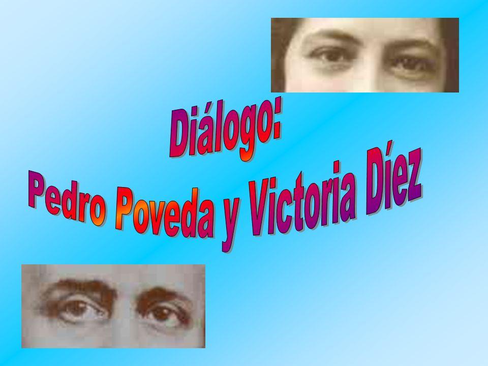Pedro Poveda y Victoria Díez