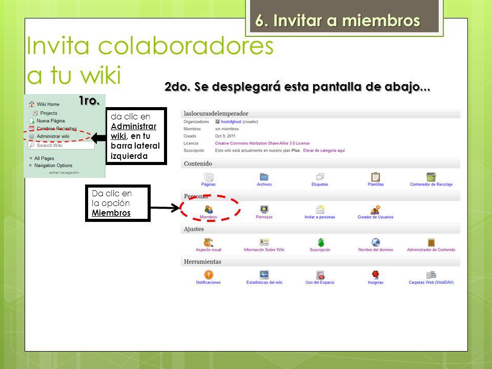Invita colaboradores a tu wiki