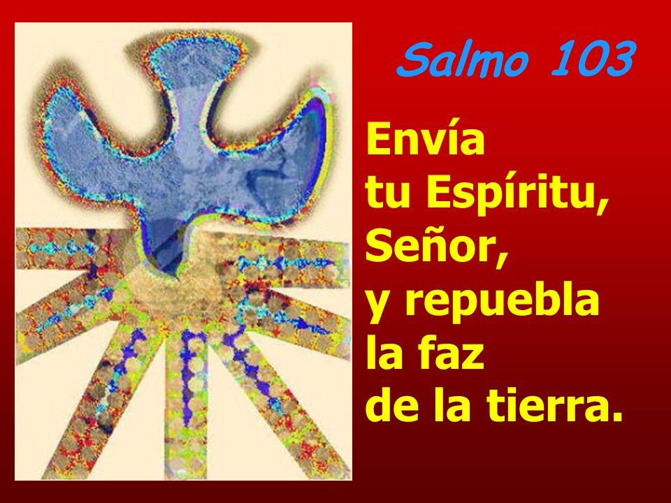 Salmo 103 Envía tu Espíritu, Señor, y repuebla la faz de la tierra.