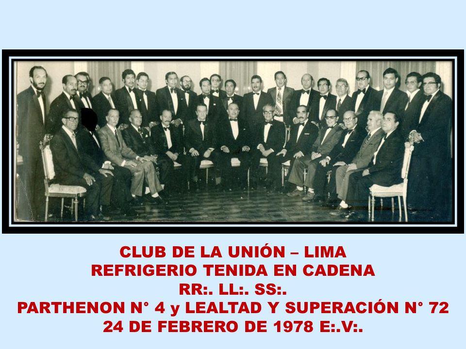 REFRIGERIO TENIDA EN CADENA RR:. LL:. SS:.